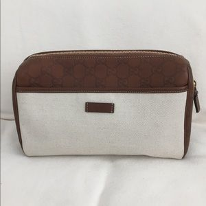 Gucci toiletries bag, new. Never used